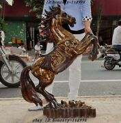 39 Chinese Fengshui Bronze Wealth Yuanbao Money Coin Success Lucky Horse Statue