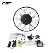 Big Lcd Display 48volt Ebike Front Rear Wheel Conversion Electric Bicycle Kit