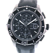 Tag Heuer Cak2110 Aqua Racer 500m Watches Stainless Steel/rubber Mens Blac...
