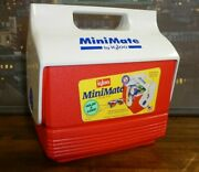Mini Mate By Igloo Red White Blue Button Lunch Can Cooler