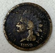 1859 Indian Head Penny Cent. Us Mint. Small Cents. Collectable. 4