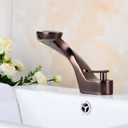 Unique Bathroom Waterfall Spout Deck Mounted Single Hole Handle Sink Faucets