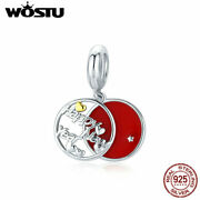 Soild S925 Sterling Silver Happy New Year Charms Jewelry For Women Girls Wostu