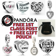 New Genuine Pandora Mum Mam Mummy Charms S925 Ale With Free Pouch Mothers Day