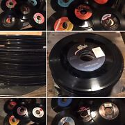 """Lot Of 42 Vinyl 7"""" Singles 45 Rpm Records For Crafts, Decorations, Coasters Etc"""