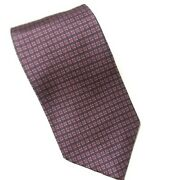 Brooks Brothers Mens Tie Silk Classic Executive Navy And Wine Small Pattern 60 X 4