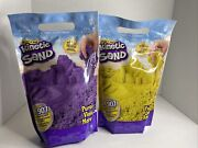 New Lot Of 2 - 2 Lb Bags Of Kinetic Sand Yellow And Purple
