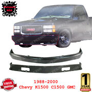 Front Bumper Cover Steel + Lower Valance For 1988-00 Chevrolet And Gmc C/k Series