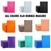 4x8 Poly Bubble Padded Envelope Mailers Shipping Mailers 50,100,200 All Colors