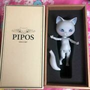 Rare Pipos Since 2007 White Cat Figure S/n Pf600240kr W/ Box Shipped From Japan