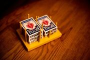 Wooden Playing Card Holder - Hand And Foot Card Game