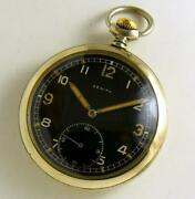 Zenith Dh Rare Old Mechanical Menand039s Pocket Watch Working