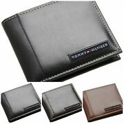 Menand039s Genuine Leather Passcase Bifold Wallet Wholesale