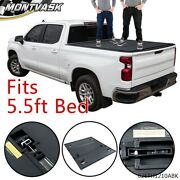 For 2015-202 0ford F-150 5.5 Ft Short Bed Hard Lock Tri-fold Tonneau Cover Kit
