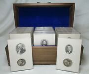 Wittnauer Mint 1972 Sterling Silver High Relief Presidential Medals Complete Set