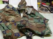 Vintage- Us Army - Camouflaged Bdu Outfit - Shirt Pants And Hat Set 25 Yrs Old