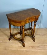Late Victorian Burr Walnut Card Table Nationwide Delivery Available