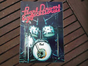 Pearl Drums And Accesories. Original Vintage Catalogue. 70andacutes / 80andacutes Very Rare