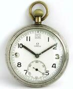 1939 Omega G.s.t.p. Wwii Original Menand039s Watch British Military Army Pocket Watch