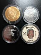 Lot Of 4 Coins/medals - Delta Dollar Kennedy Mint 225 Years Grandoe