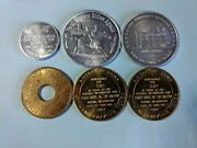Lot Of 6 Tokens/medals Very High Grade