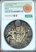 1970 Mexico Silver Grove 1088a World Soccer Championship Ngc Ms 66 Beautiful