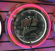Coors Racing 14 Double Ring Neon Clock - New In Box