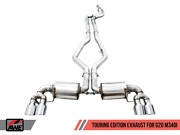 Awe Non-resonated Touring Edition Exhaust For Bmw G20 M340i - Chrome Silver Tips