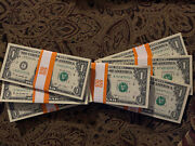 Halfandnbspstack 50 Bills One Dollar 2013/2017 1 Cu-unc From Bep Pack Out Of Brick