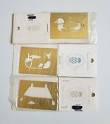 3pack Goose Brass Embossing Stencil New England Country Stencilworks Finest Qual