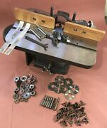 Atlas Vintage 1/2 Shaper With Fence, Cutters, Bits, Spacers Missing Motor