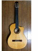 Aria A-120f-cwe Shadow Eq Installed Electric Classical Acoustic Guitar And Case