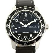 Sinn 104 St Sa A Automatic Leather Strap Black Dial Mens Watch Box And Papers 41mm