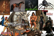 Mezco Conan The Barbarian Pre-order And Horse, Maidens, Death Dealer, And Beasts