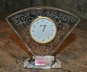 Baccarat | Rendezvous Clock ✪new✪ Rare Retired Crystal Gold Swiss Movt France Us
