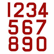 Replacement Optimist Sail Numbers - Class Legal - Red 1