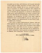 Benito Mussolini Document Signed Use Italian Steel Over German For Machine Guns
