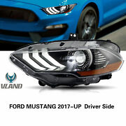 Vland Headlight Led Drl Replacement Amber For Ford Mustang 2018-2020 Left+right