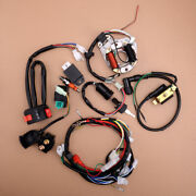 Cdi Wire Harness Stator Wiring Spark Plug Kit Fit For 50cc-125cc Atv Quads