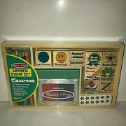 Melissa And Doug Wooden Classroom Stamp Set New And Sealed Gold Stars