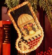 Mary Beale Medieval Angel Stocking No. 6 Cross Stitch Leaflet Christmas Rare