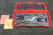 Snap-on Thread Threading Tap Die Wrench 1/4 1/2 Drive Tool Set Tdalds1 Tdrset