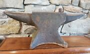 Antique Reclaimed Blacksmith Farrier Old Vintage Cast Iron Anvil Salvaged