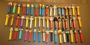 Lot Of 53 Pez Candy Dispensers Cartoon Characters Large Mix Collection Halloween