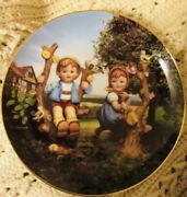 Collector Plate Hummel Apple Tree Boy And Girl Little Companions Limited Editi