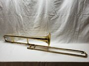 1950 Olds Ambassador Trombone - L.a. Made W/ Case And Mouthpiece - Serviced
