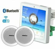 Wall Amplifier Ceiling Speaker Set Audio Wifi Bluetooth Home Background Music