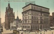 Milwaukee Wisconsin - Free Press And Pabst Buildings 1911 - Trolley Horse Buggy