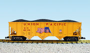 Usa Trains G Scale 14028 70 Ton 3 Bay Coal Hopper Union Pacific With Flag - Ye