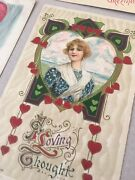 Antique Romantic Valentine Postcards Printed In Germany Lot Of 9